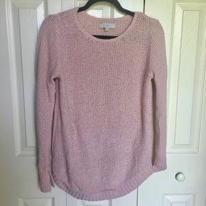 LOFT Shirtwaist Hem Knit Sweater